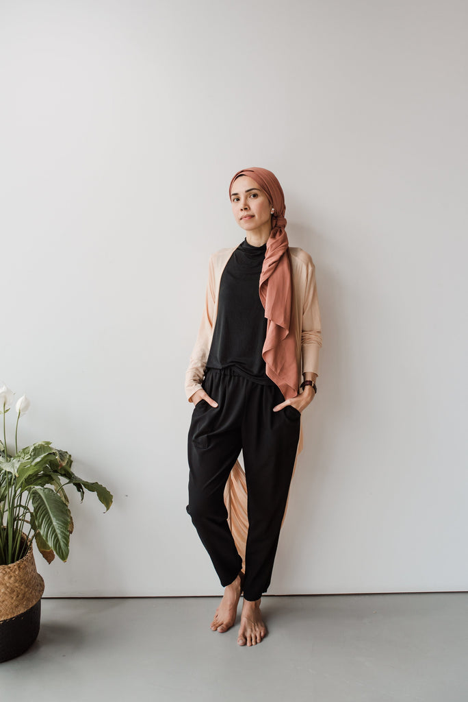 The Nadia Loop Cardigan <i> (Blush) </i>