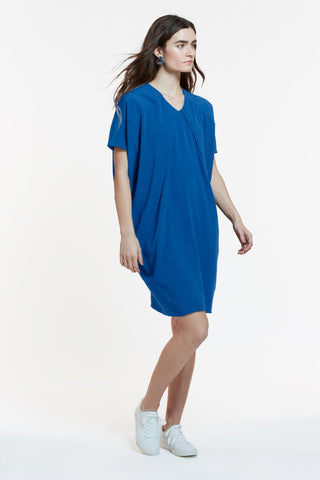 The Elif Dress in Peacock Blue and Sage