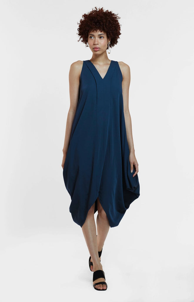 The Katie Dress in Peacock Blue and Sage (Limited Edition)