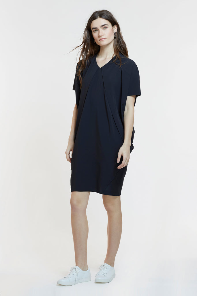 The Elif Dress (in Black & Slate)