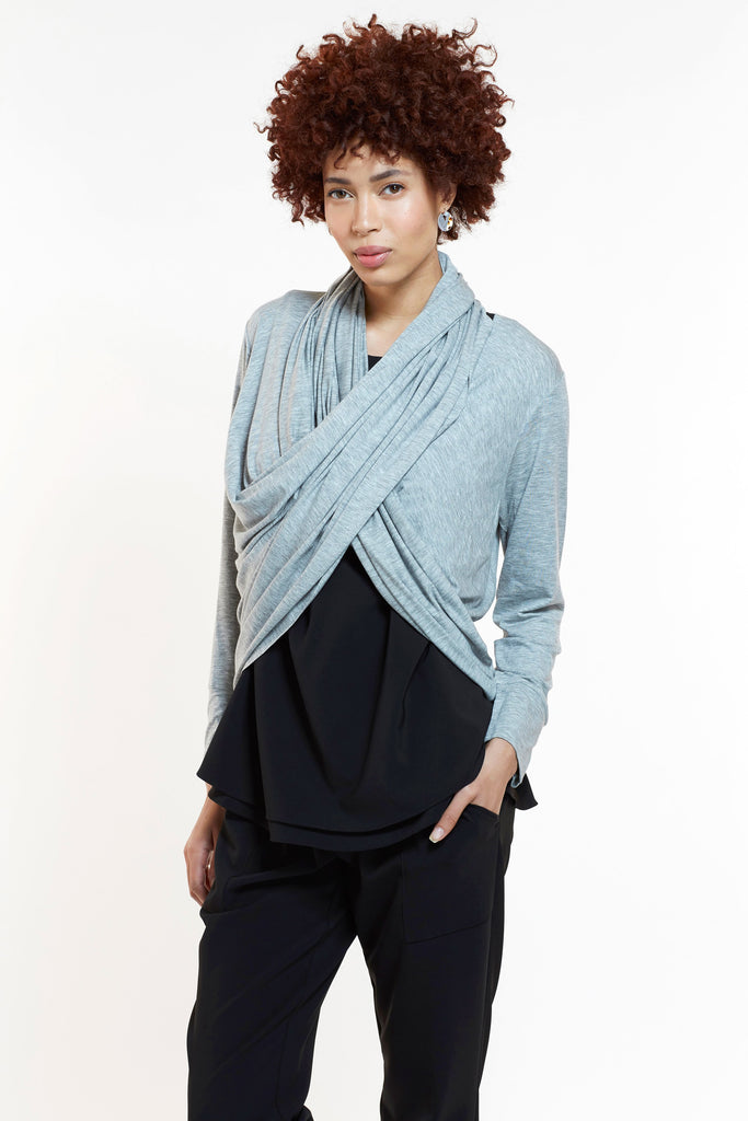 Mitera Nadia Loop Maternity and Nursing Cardigan Heather Gray