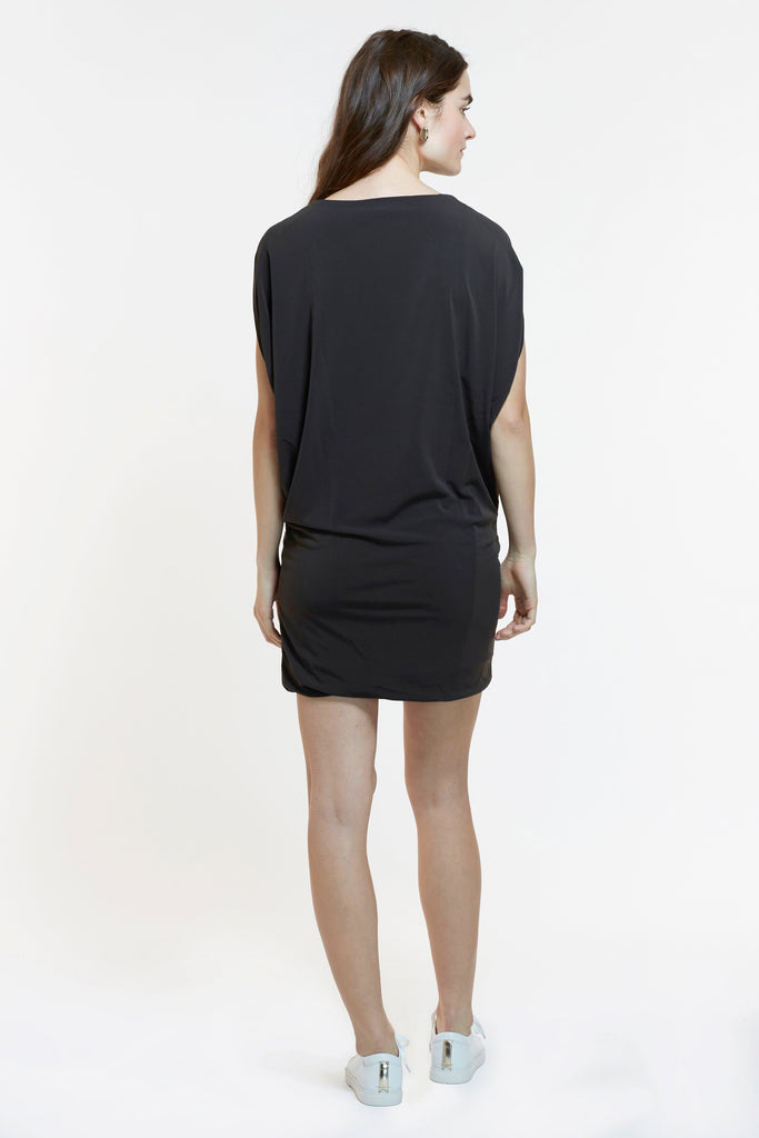 Mitera Sahar Dress Warm Charcoal Back View