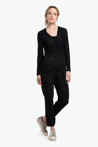 Nadia Loop Maternity and Nursing Cardigan Black