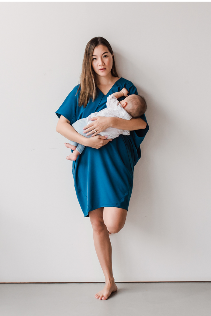 Elif Dress Peacock Blue Nursing