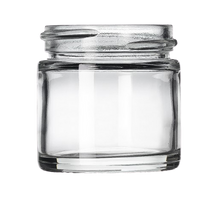 Load image into Gallery viewer, 1 oz Clear Glass Jars (160/cs)