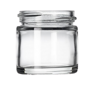 1 oz Clear Glass Jars (160/cs)
