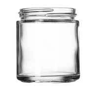 4 oz Clear Glass Jars (90/cs)