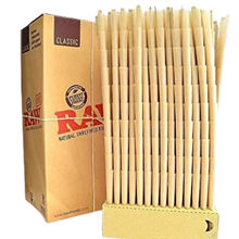 Load image into Gallery viewer, RAW King Size 109mm Unbleached Pre Rolled Paper Cones 1400/Box