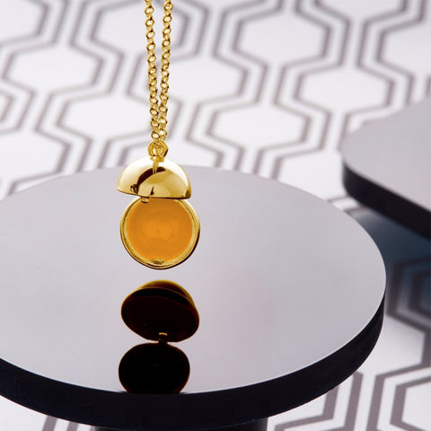 Love Luxe 18 Carat Gold Opening Ball Pendant