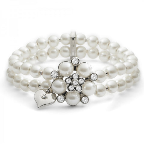 Audrey Stretch bracelet in cream