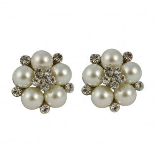 Audrey Clip On Earrings in Cream