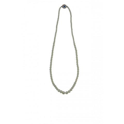 Single Strand Graduated Pearl Necklace