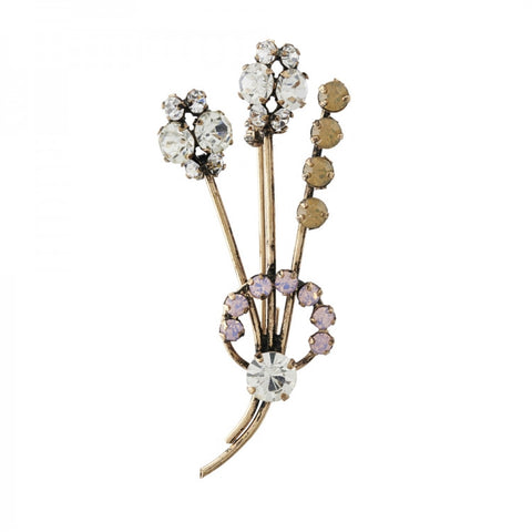 1950's Inspired Corsage Brooch Pink Opal