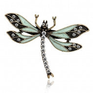 Dragon Fly Brooch with Swarovski Crystal