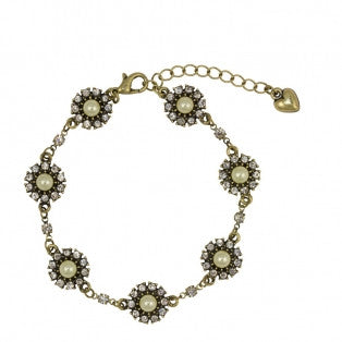 Pearl and Crystal Bracelet Inspired by Grace Kelly