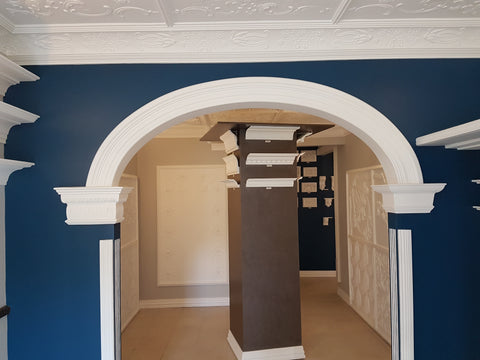 SCS110 profile, semi ellipse style arch with Cornice SC47 used for capital. Starting from $490.