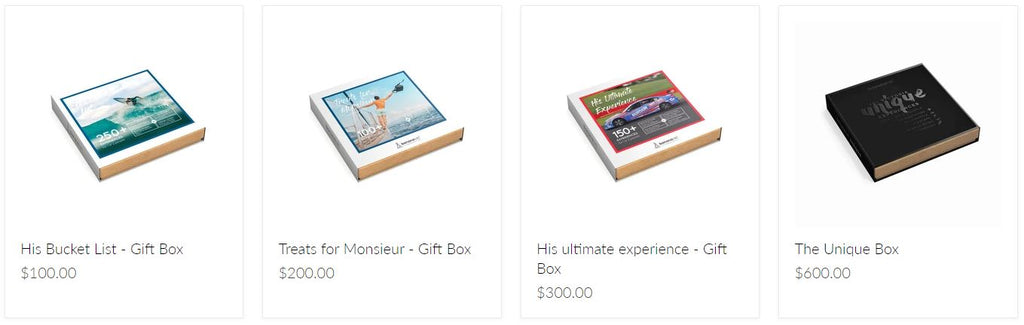 Fathers day experience gift boxes