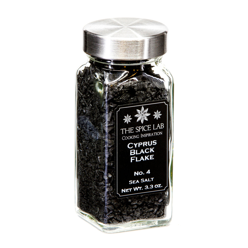 Load image into Gallery viewer, The Spice Lab Cyprus Mediterranean Black Flake Sea Salt