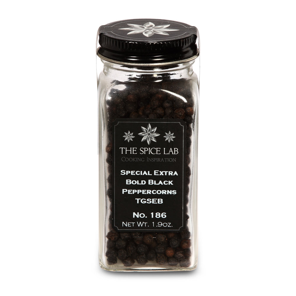 Load image into Gallery viewer, The Spice Lab No. 186 - Special Extra Bold Indian Black Peppercorn TGSEB - Kosher Gluten-Free Non-GMO All Natural Pepper