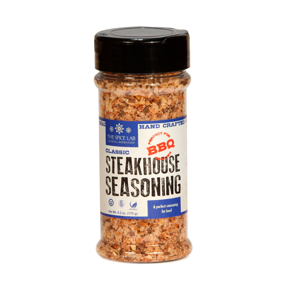 The Spice Lab Classic Steakhouse Steak Seasoning – All-Natural BBQ Grill Dry Rub - Award Winning Gluten Free Wagyu Steak, Burger & Veggie Grill Seasoning – Premium Steak Blend – 7030