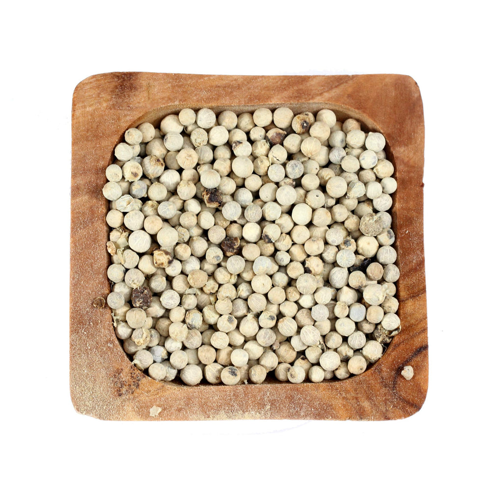 Load image into Gallery viewer, The Spice Lab Whole White Peppercorns - Whole White Pepper for Grinder Refill - Packed in USA - Non GMO Kosher - Perfect for Meat, Seafood, Soups, and Vegetables - 5053