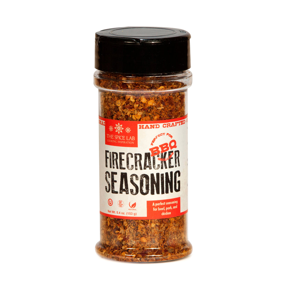 The Spice Lab Firecracker Spicy Steak Seasoning - All-Purpose Blend for Chicken, Salmon & Beef  - Kosher & Non-GMO Vegan Chicken Spice Rub - All-Natural Hot Popcorn Seasoning – 7013
