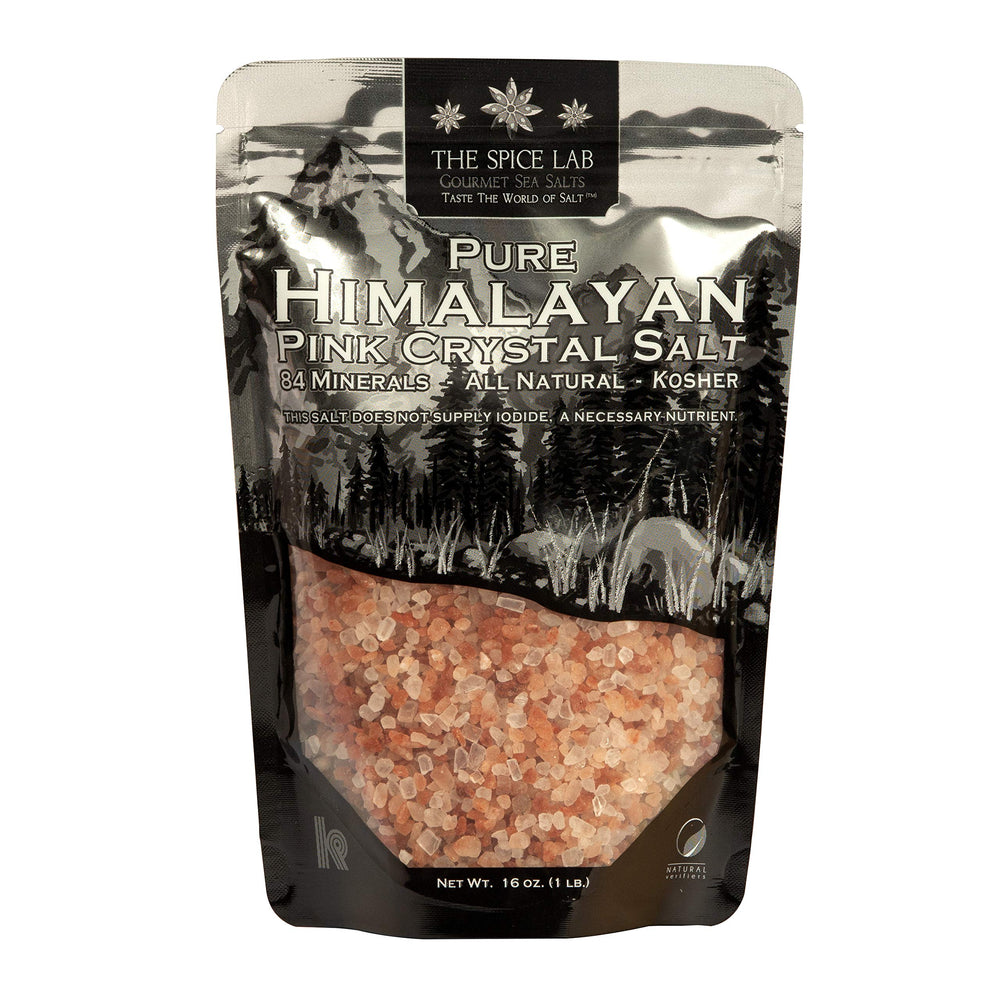 The Spice Lab Himalayan Salt - Coarse - Gourmet Pure Crystal - Nutrient Rich - Kosher and Natural Certified