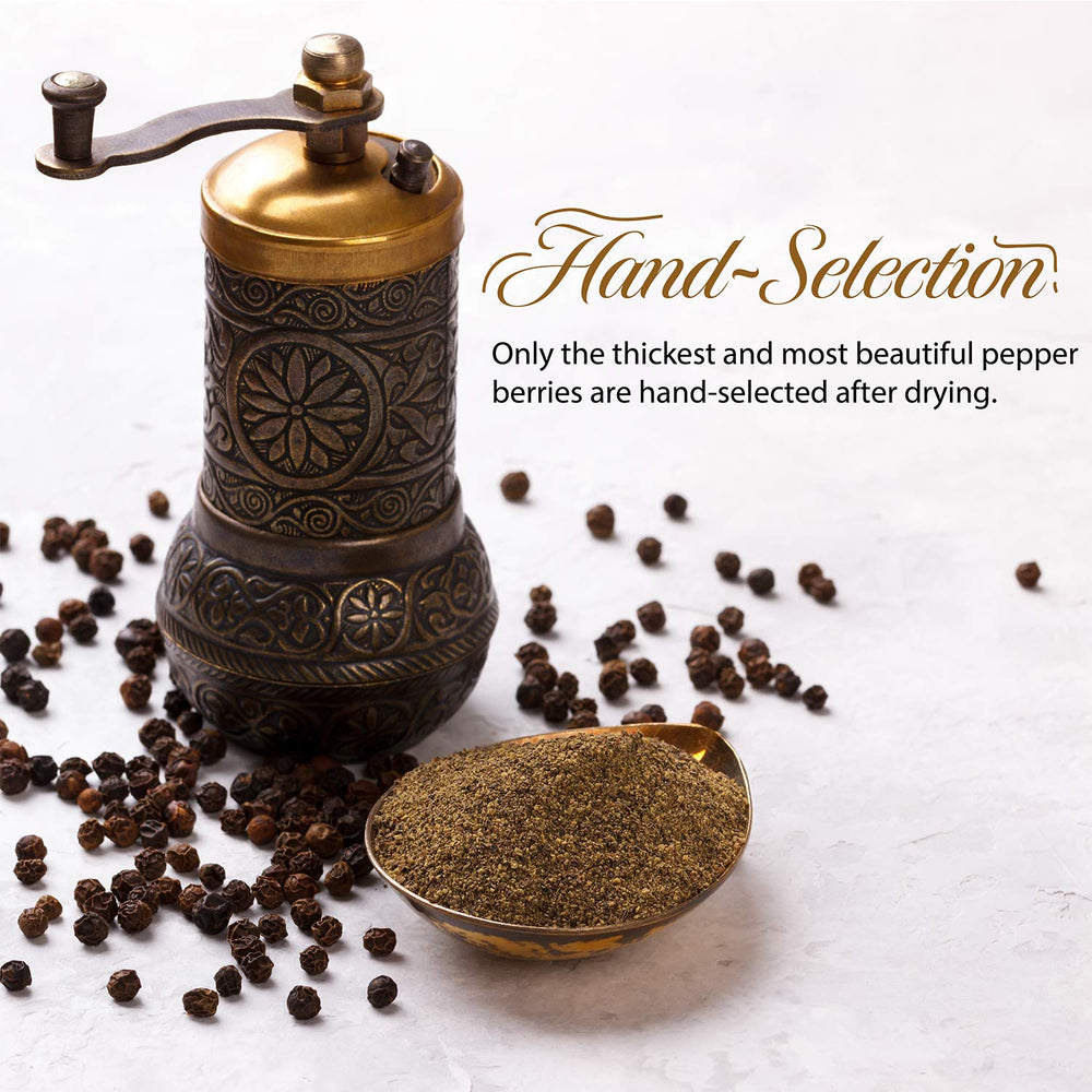 Load image into Gallery viewer, The Spice Lab Special Extra Bold Indian Black Peppercorn TGSEB - High Oil - Best you can buy - Hand Selected - Kosher Gluten-Free Non-GMO All Natural Pepper - 5186