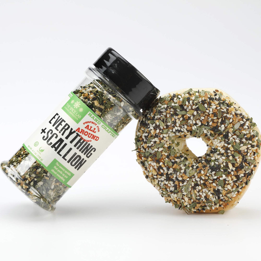 Load image into Gallery viewer, The Spice Lab Everything and More Seasoning Rub Blend - Gourmet PALEO and KETO Approved Spice - The Perfect Everything Bagel Seasoning -Blend of Sesame Seeds, Garlic & Onions