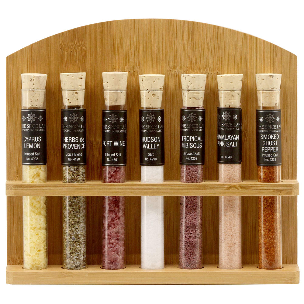 Load image into Gallery viewer, The Spice Lab Sea Gourmet Salt Sampler Collection 1 - Makes Excellent Grilling Gifts - Salt Set Gifts - Seasoning Gift Set