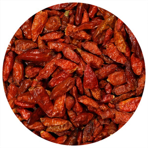 Load image into Gallery viewer, The Spice Lab DRIED Whole Birdseye Chili Peppers - De-Stemmed Birdseye Chili Pepper Aka (Portuguese Piri Piri Chili Pepper) Kosher Gluten-Free Non-GMO All Natural - 5121
