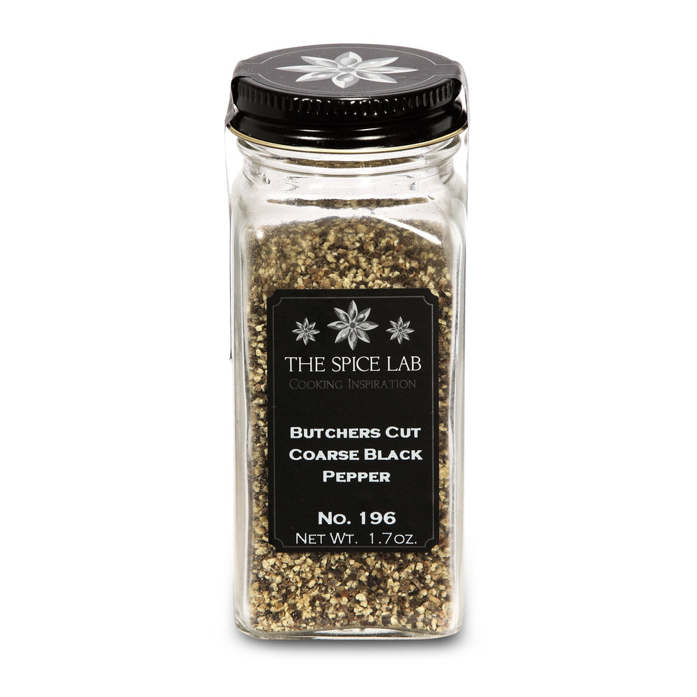 The Spice Lab Butchers Cut Black Pepper - Kosher Gluten-Free Non-GMO All Natural Peppers - 5196