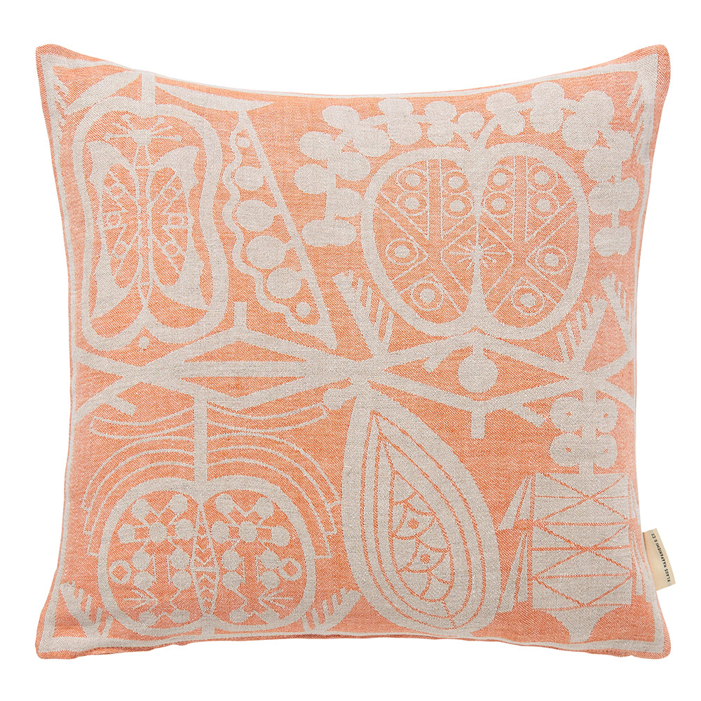 Apple woven linen cushion, Orange
