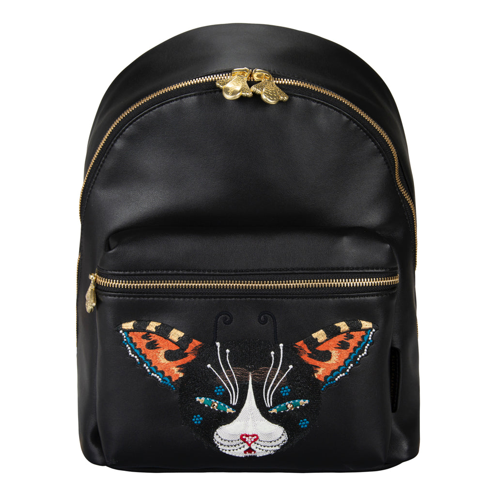 Butterfly Cat vegan leather back bag