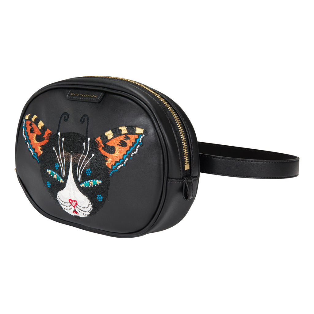 Butterfly Cat Vegan leather bum bag