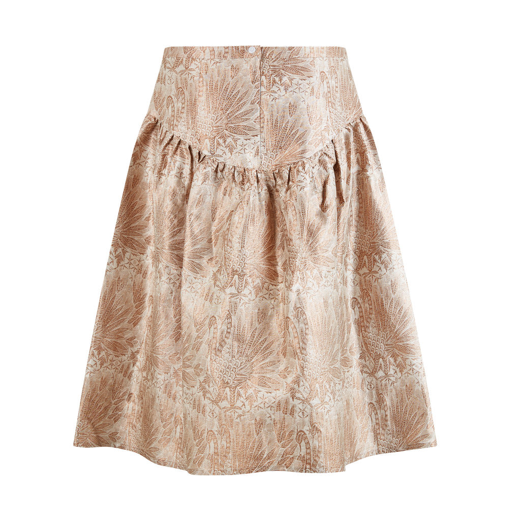 Copper Brocade skirt