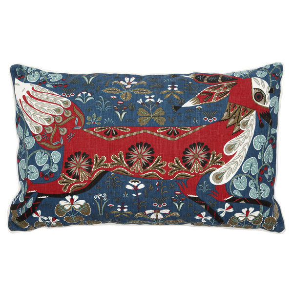 Running Fox Linen Pillow