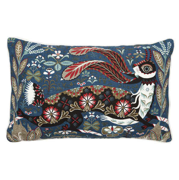 Running Hare Linen Pillow
