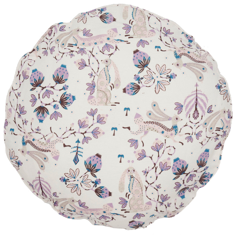 Snow Rabbit Round cushion