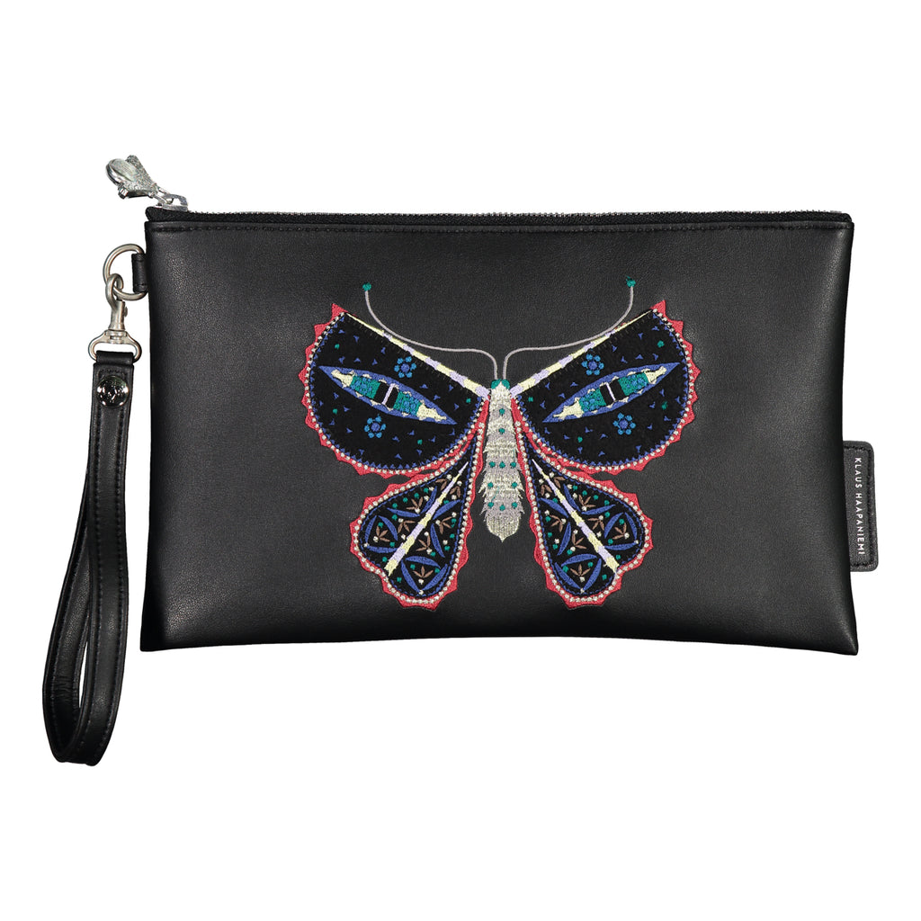 Cat's Eyes vegan leather clutch bag