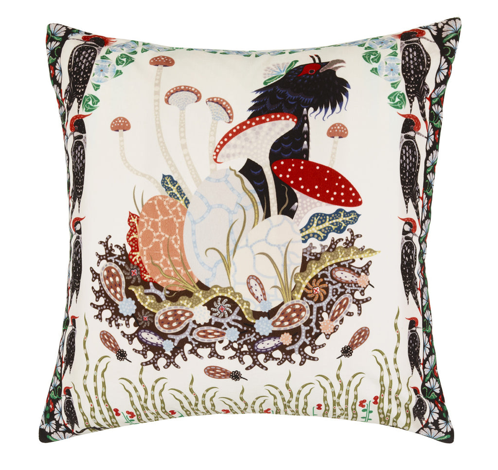 Woodpeckers Velvet cushion