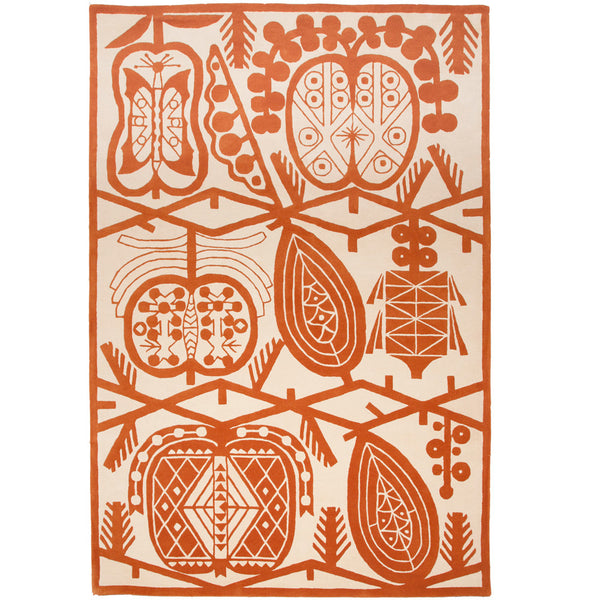 Apple rug Orange