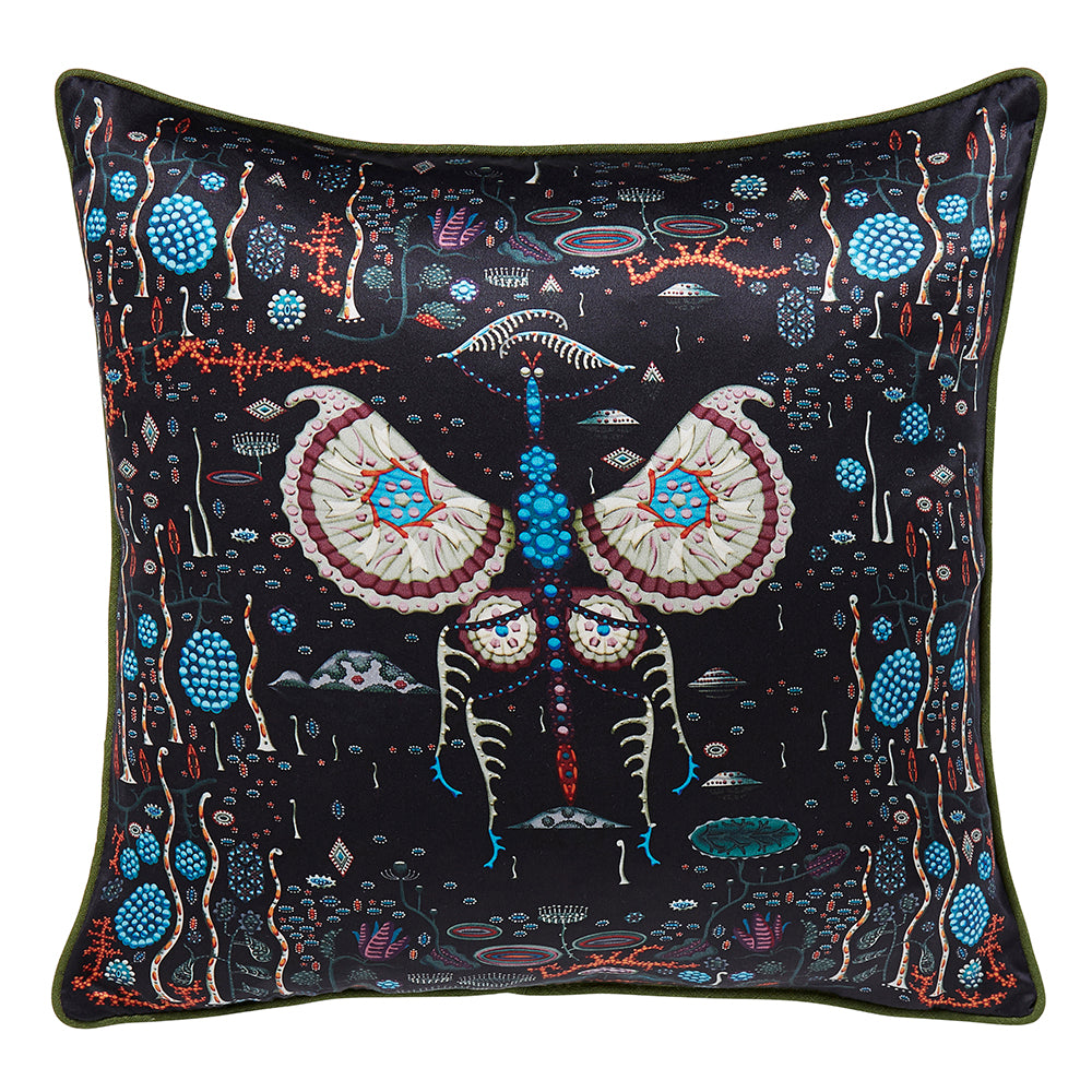 Black Lake Silk cushion