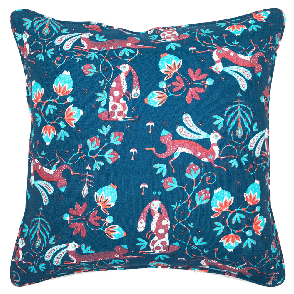 Snow Rabbit Blue cushion