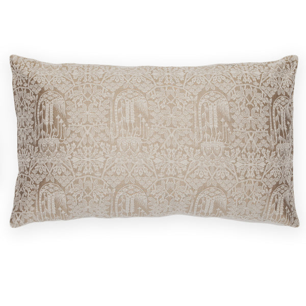 Silk Brocade Forest Gold Pillow