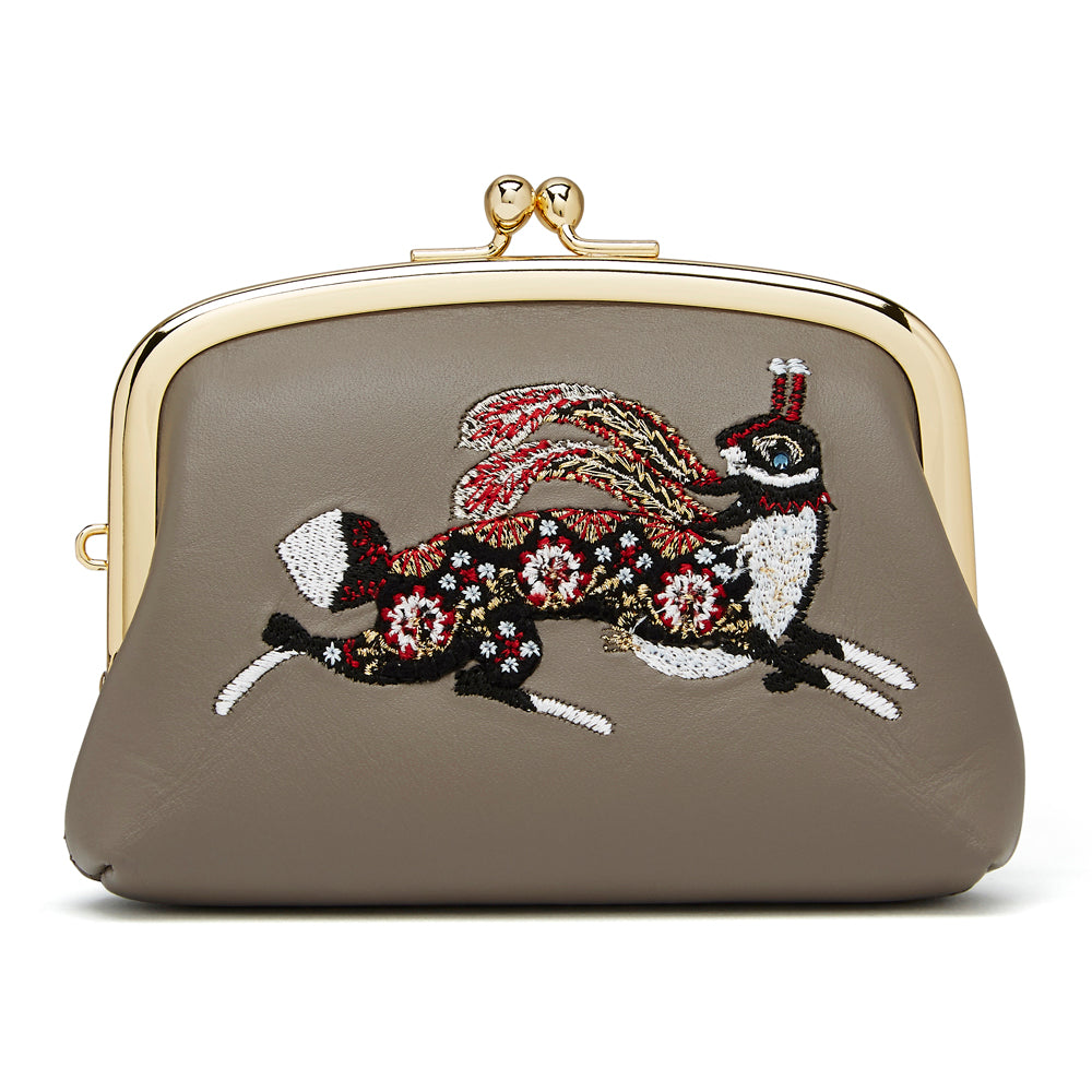 Coin purse Running Rabbit Grey