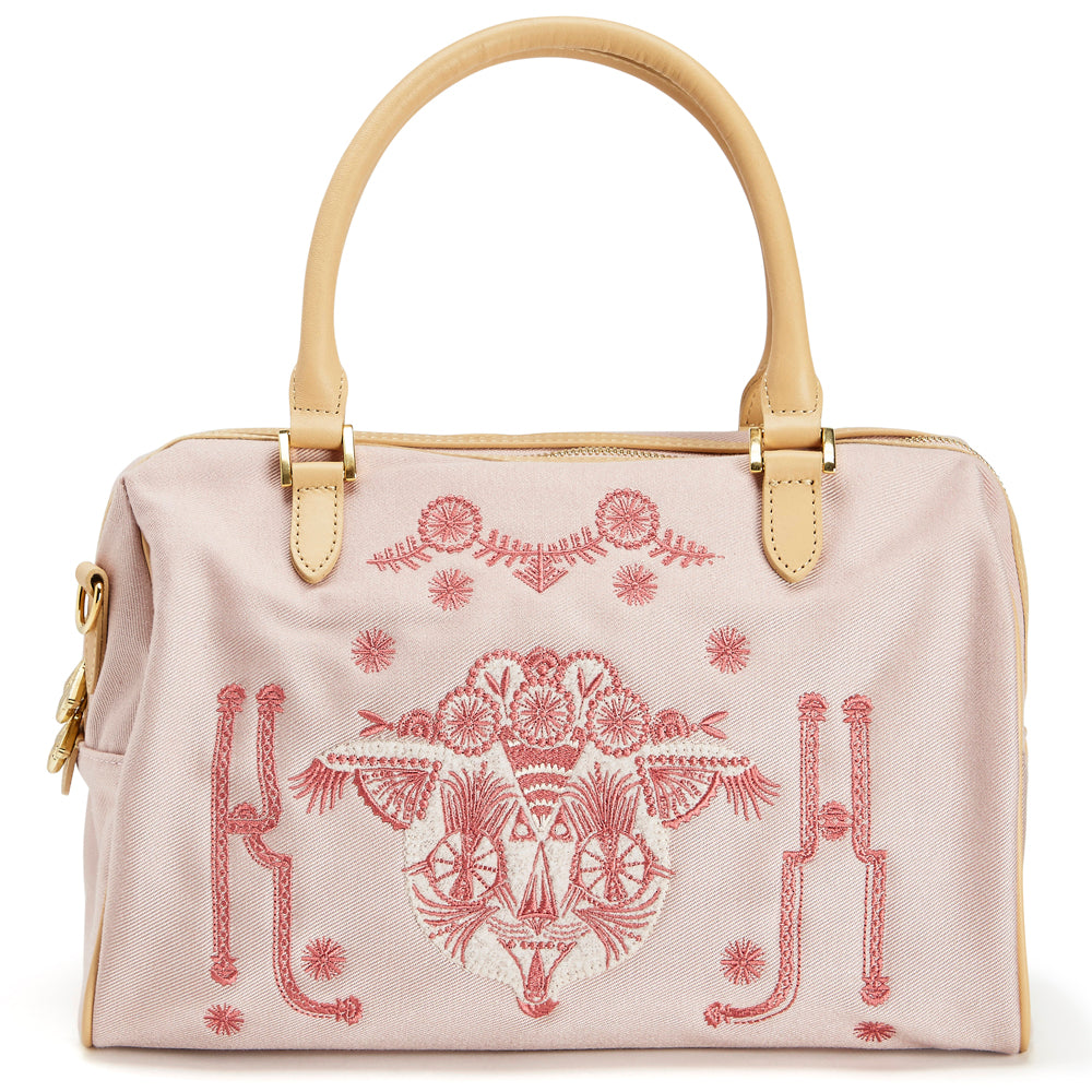 Flower crown Putte hand bag Pink