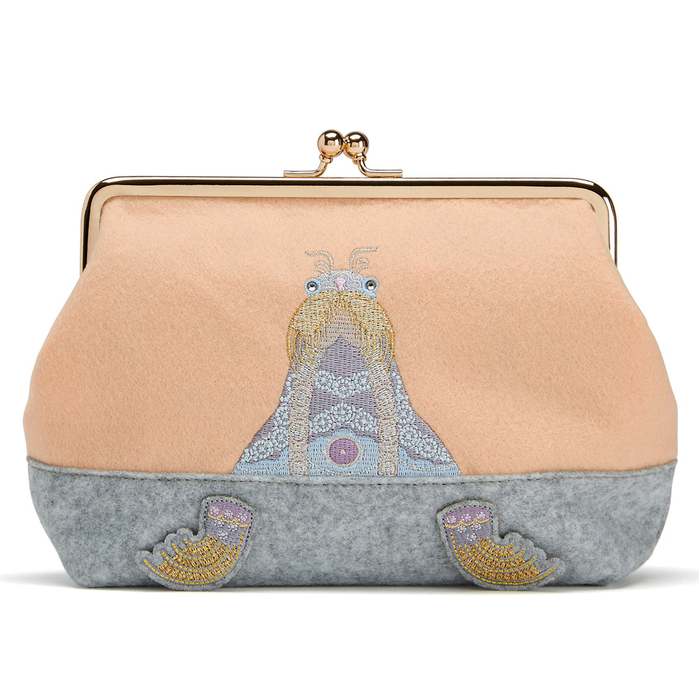 Felt purse Walrus Peach