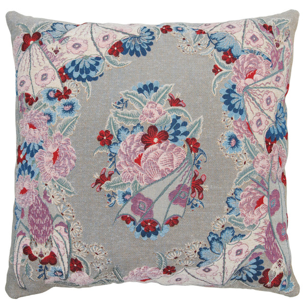 Tapestry Flowers Grey cushion