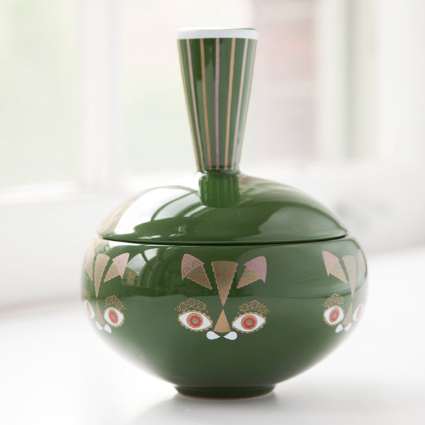 Green Cat Jar